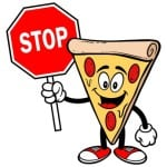 Pizza with Stop Sign